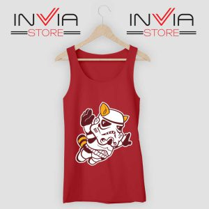 Fly Stormtrooper Star Wars Tank Top Red