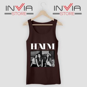 HAIM Cover Poster Tank Top Black