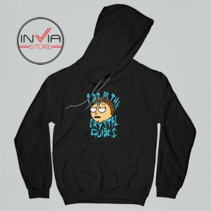 I Do As The Crystal Guides Rick Morty Hoodie Cartoon Adult Unisex Black