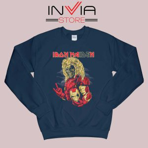 Iron Man Iron Maiden Sweatshirt Navy