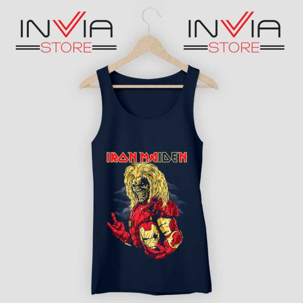 Iron Man Iron Maiden Tank Top Navy