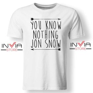Jon Snow You Know Nothing Tshirt White