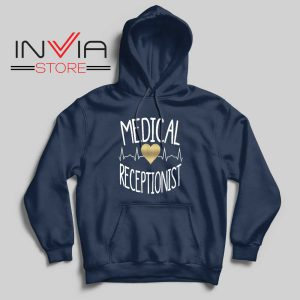 Medical Receptionist Hoodie Navy