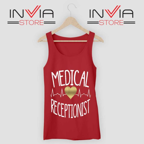 Medical Receptionist Tank Top Red