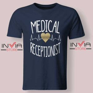 Medical Receptionist Tshirt Navy