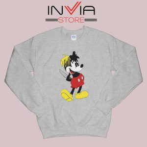 Mickey Mouse XXXTentacion Sweatshirt Grey