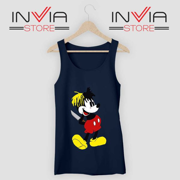 Mickey Mouse XXXTentacion Tank Top Navy