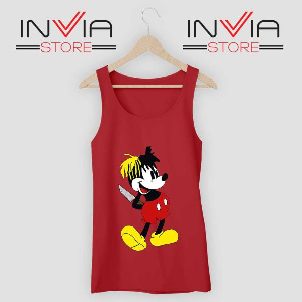 Mickey Mouse XXXTentacion Tank Top Red