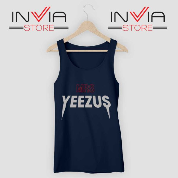 Mrs Yeezus Tank Top Navy