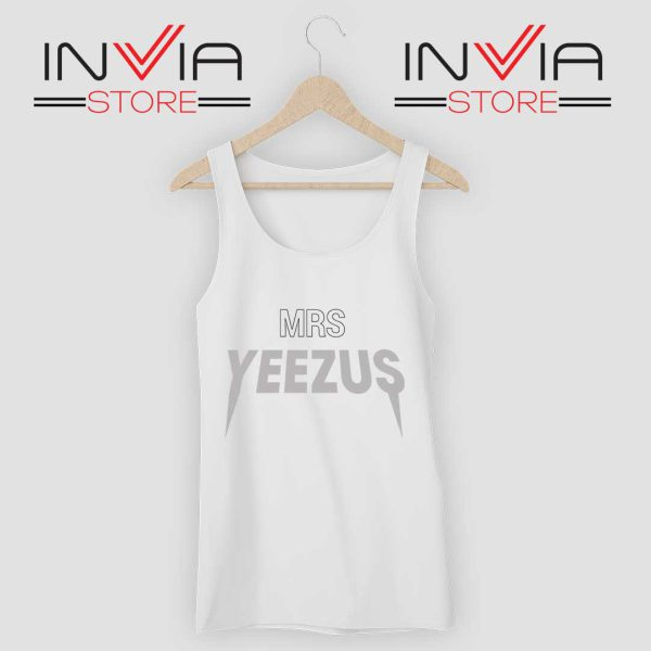 Mrs Yeezus Tank Top White