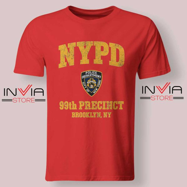 NYPD 99th Precinct Tshirt Red