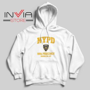 NYPD 99th Precinctr Hoodie White