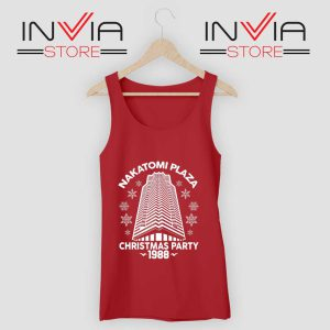 Nakatomi Plaza Christmas Party Tank Top Red