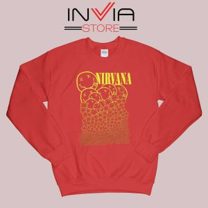 Nirvana Smiley Face Sweatshirt Red