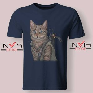 Norman Reedus Cat Tshirt Navy