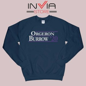 Orgeron Burrow 2020 Sweatshirt Navy