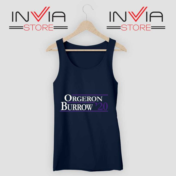 Orgeron Burrow 2020 Tank Top Navy