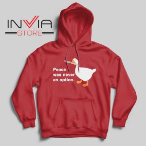 Peace Was Never An Option Hoodie Red