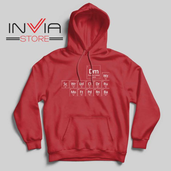 Periodic DnD Game Hoodie Red