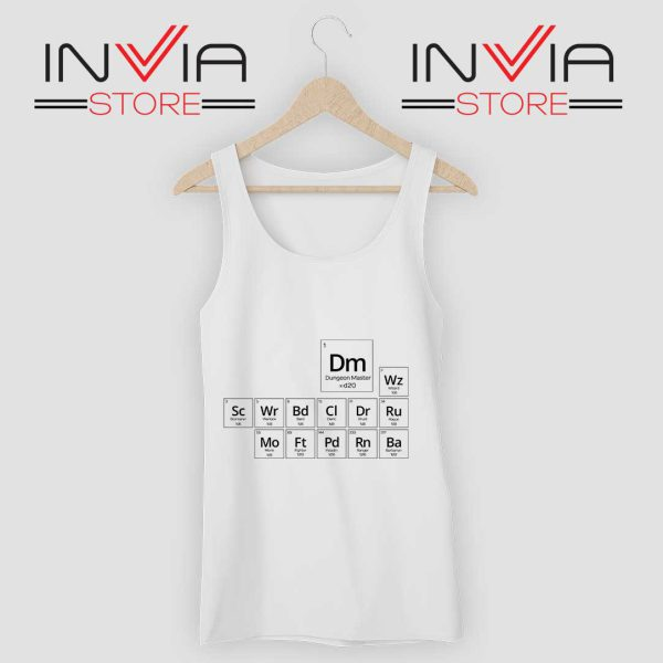 Periodic DnD Game Tank Top White