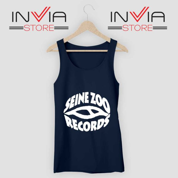 Seine Zoo Records Tank Top Navy