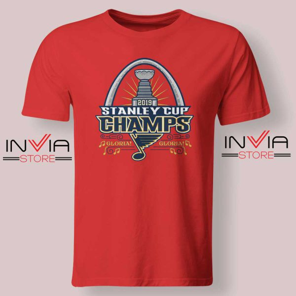Stanley Cup Champions 2019 Tshirt Red