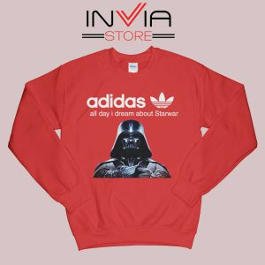 Stormtrooper Star Wars Adidas Sweatshirt Red