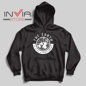 The Earth Is Flat and Stationary Hoodie Black