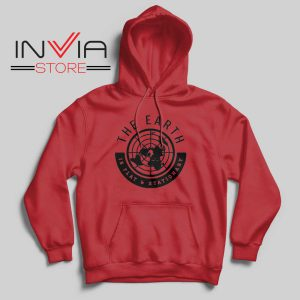 The Earth Is Flat and Stationary Hoodie Red