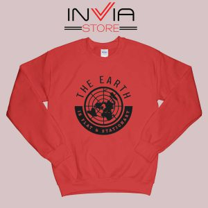 The Earth Is Flat and Stationary Sweatshirt Red