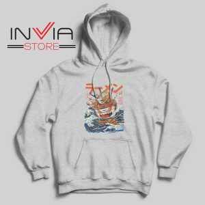 The Great Ramen off Kanagawa Hoodie Grey