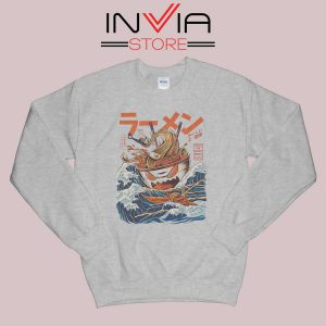 The Great Ramen off Kanagawa Sweatshirt Grey