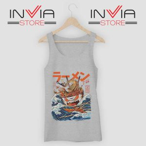 The Great Ramen off Kanagawa Tank Top Grey