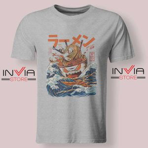 The Great Ramen off Kanagawa Tshirt Grey