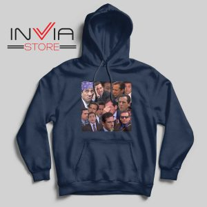 The Office Face Hoodie Navy