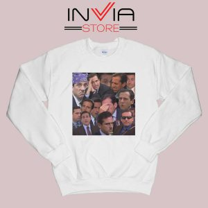 The Office Face Sweatshirt White