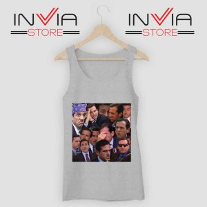 The Office Face Tank Top Grey