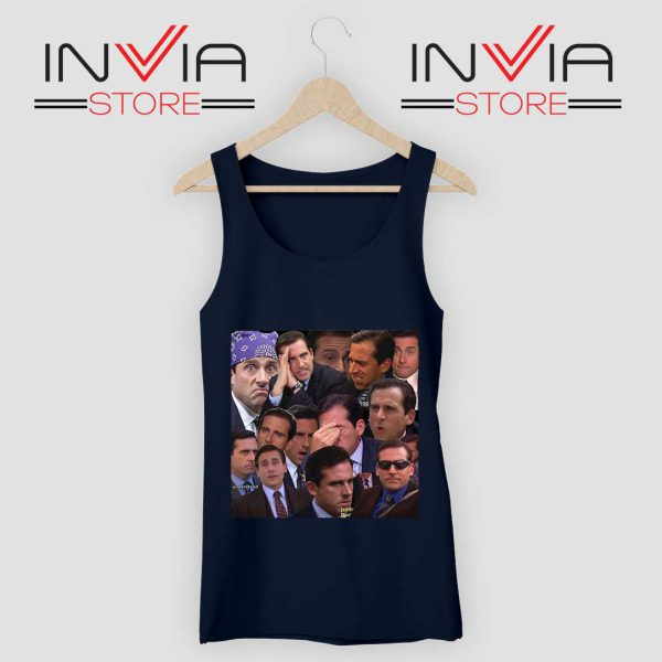 The Office Face Tank Top Navy