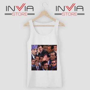 The Office Face Tank Top White