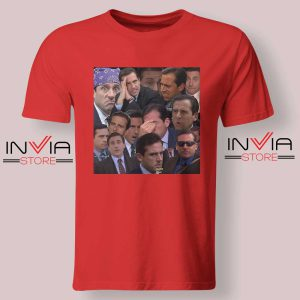 The Office Face Tshirt Red