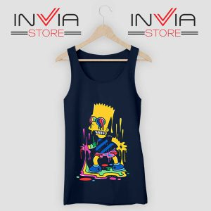 Trippy Bart Simpsons Tank Top Navy