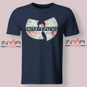 Wu Tang Clan Art Flower Tshirt Navy