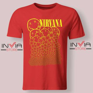 nirvana-smiley-face-tshirt Red