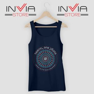 21 Pilots Heathens Art Tank Top Navy