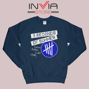5SOS Concert Merch Sweatshirt Navy