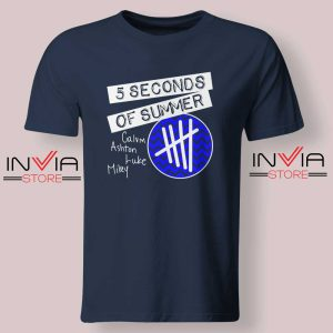 5SOS Concert Merch Tshirt Navy