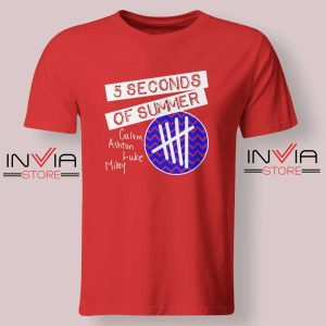 5SOS Concert Merch Tshirt Red