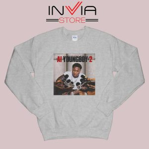AI Youngboy 2 Sweatshirt Grey