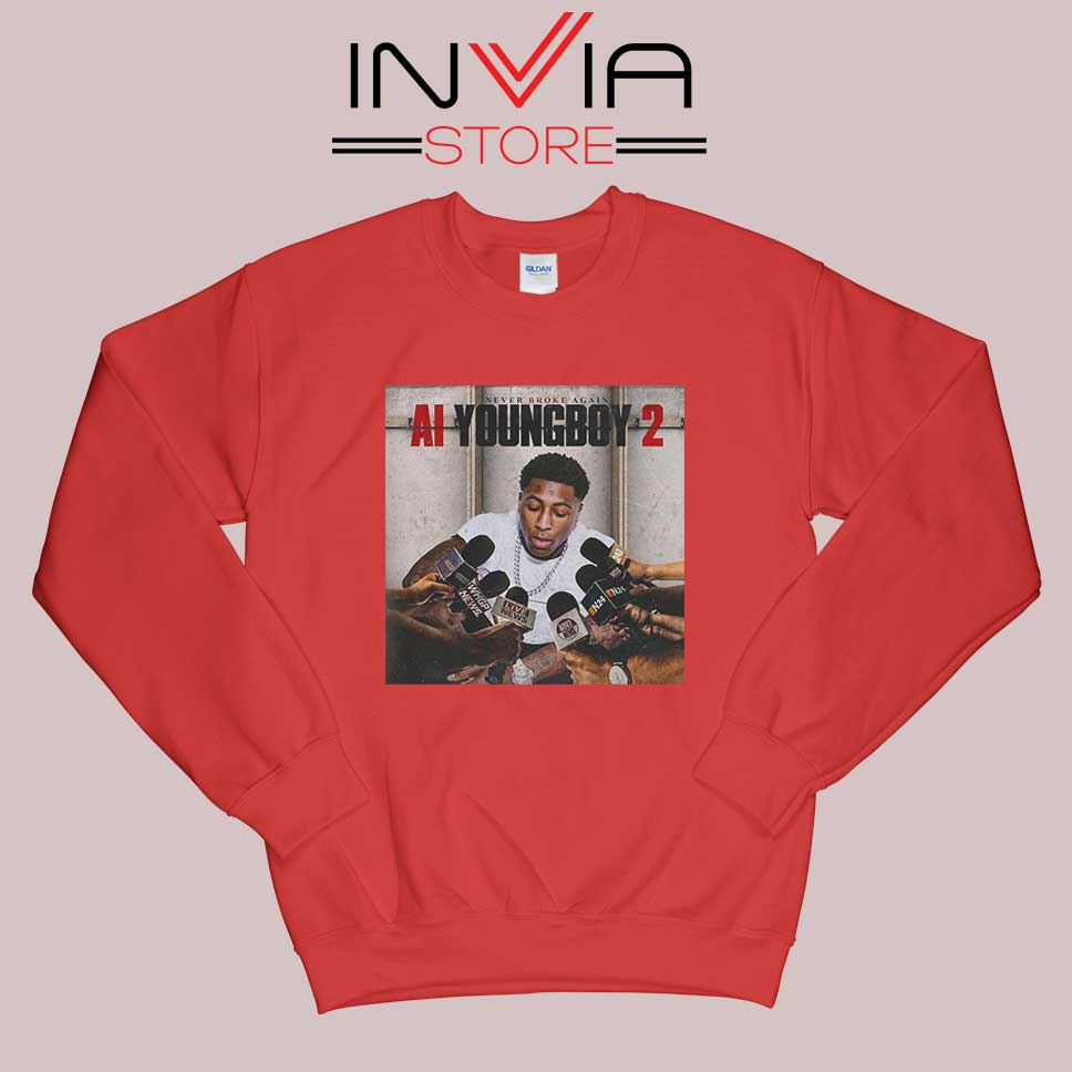 AI Youngboy 2 Sweatshirt Red