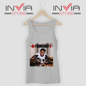 AI Youngboy 2 Tank Top Grey